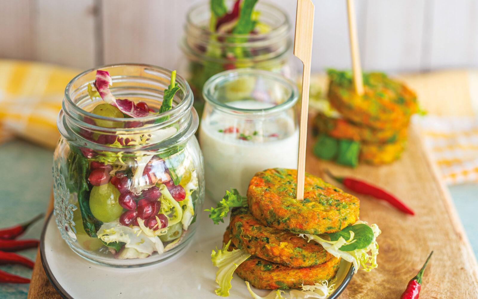 Meraviglie di verdure con salsa piccante al limone e sesamo