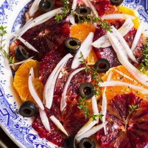 Insalata di arance, finocchi, cipolla e olive