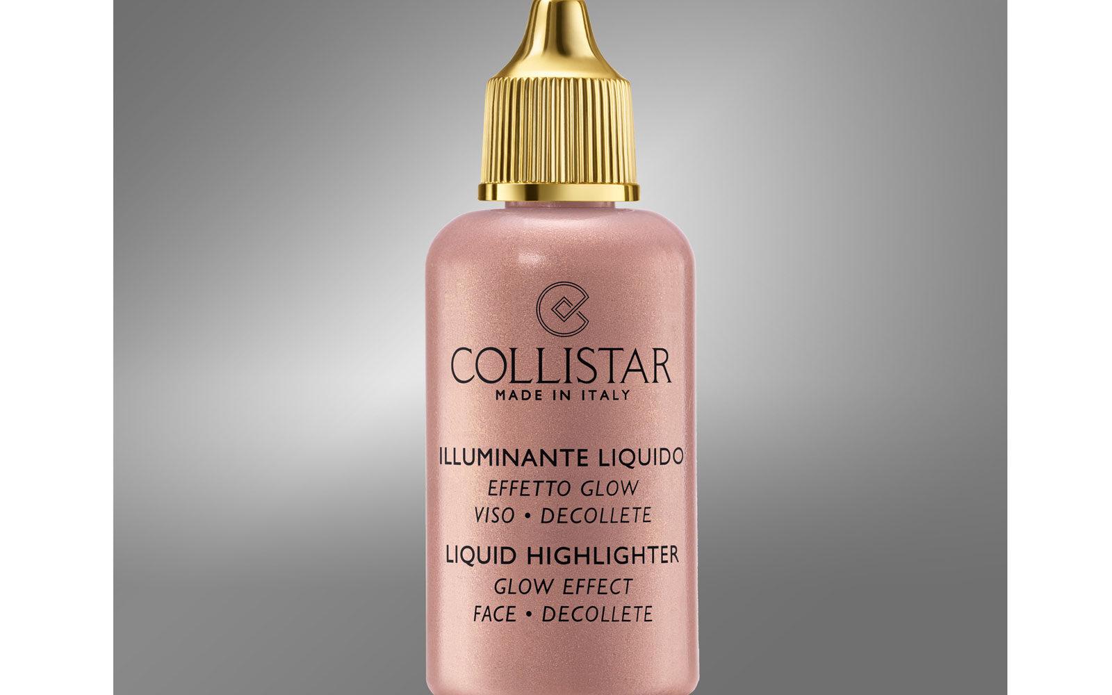 Un tocco extra di brillantezza sul viso e sul décolleté con l'Illuminante Liquido di Collistar (profumeria, 18 euro).