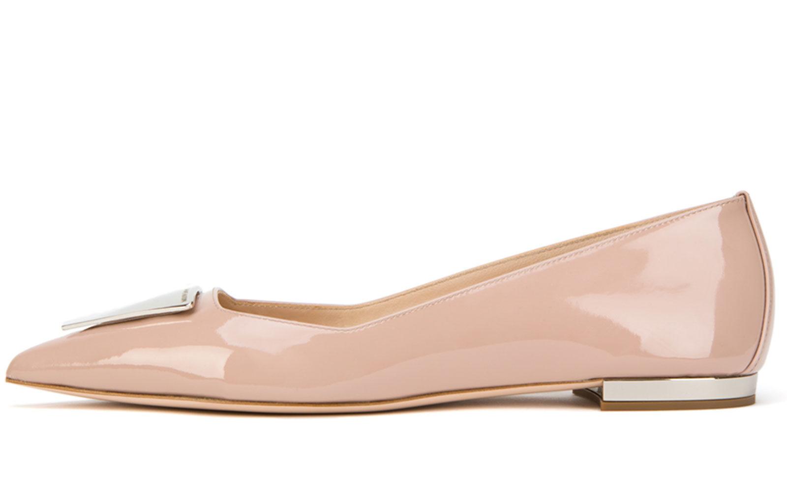 Damiano-Marini-Flat-pump-leather-and-silver-accessory-350-euro