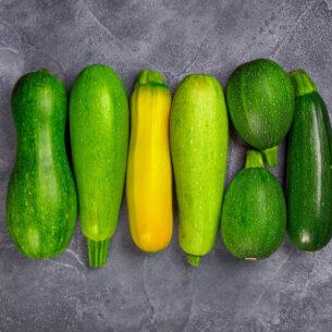 Zucchine: verdi o gialle sempre sulla tavola