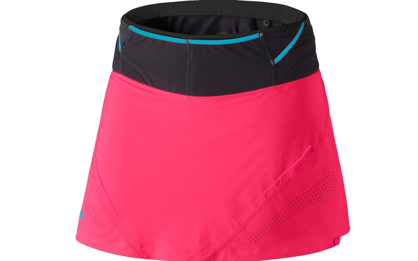 Dynafit Ultra 2 in 1, leggerissima (123 grammi) e con boxer integrato, numerose e pratiche tasche sul fondo (con e senza zip), tessuto ad asciugatura rapida, perforazioni al laser per la circolazione dell'aria. Euro 100