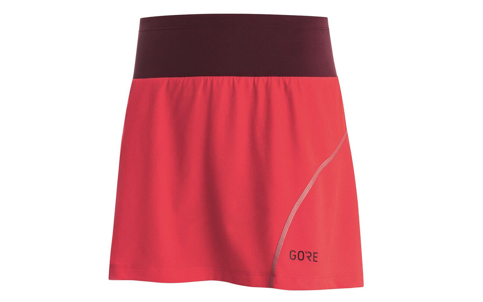 Gore Wear R7 gonna, massima libertà di movimento, tessuto traspirante, chiusura con coulisse, dettagli riflettenti, nasconde dei tight a leggera compressione per i muscoli. Euro 69,95