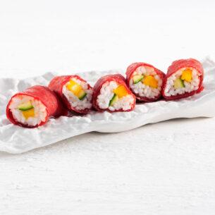 Sushi croccante di bresaola e zucchine
