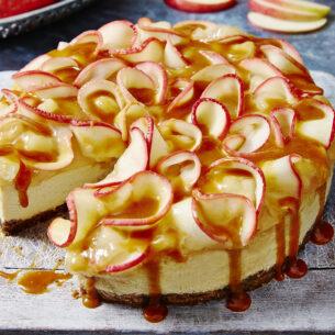 Cheesecake alle mele e caramello salato
