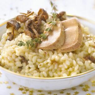Ricette delle feste: risotto con chiodini e foie gras