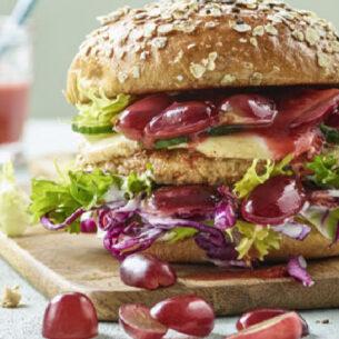 Healthy burger con ketchup d'uva