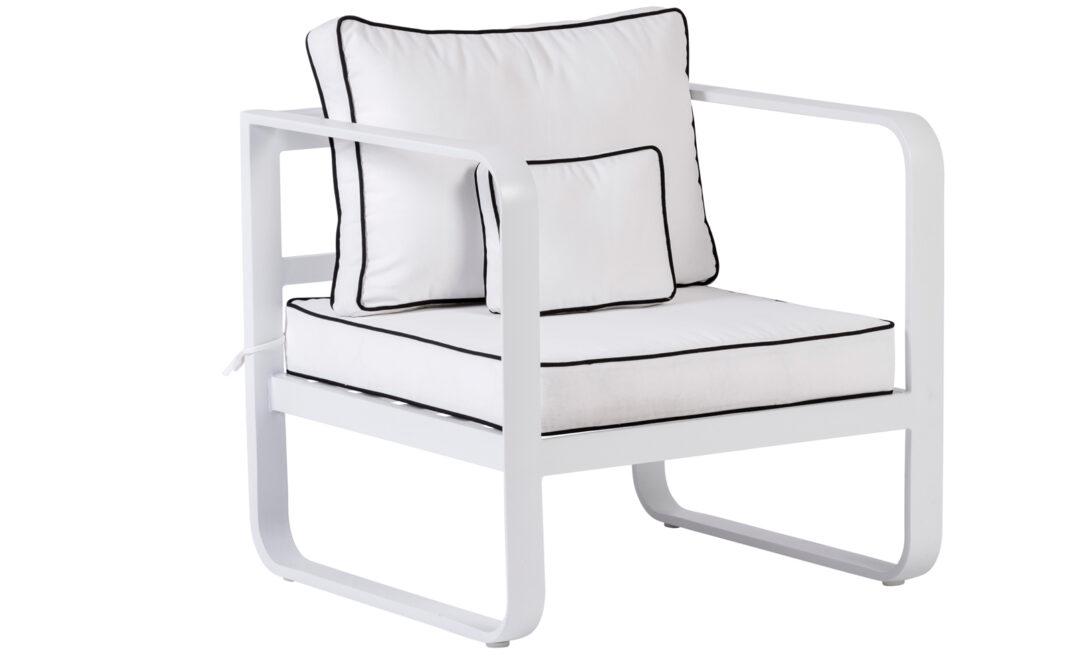 LISA poltrona lounge bianco, H 70 x W 72 x L 76 cm, € 259