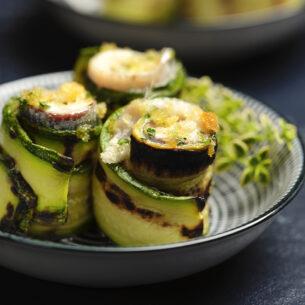 Involtini di zucchine e alici alla griglia